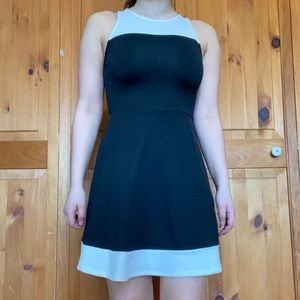 H&M Black and White Dress with Open Back